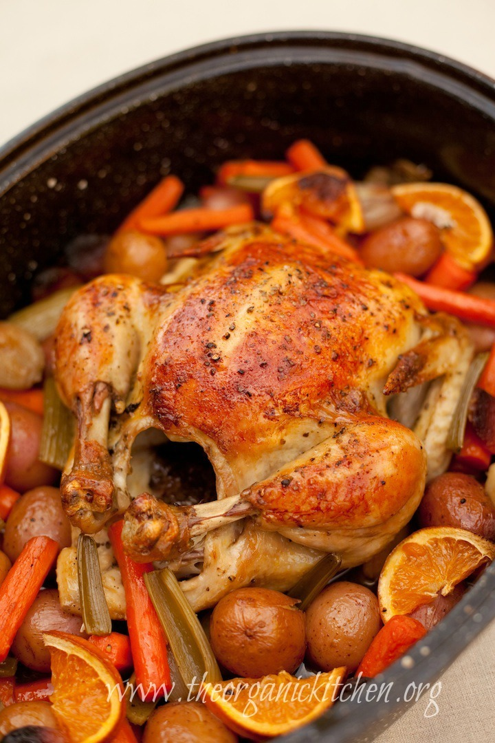 Roasted Apricot Chicken with Herbs de Provence | The Organic ...