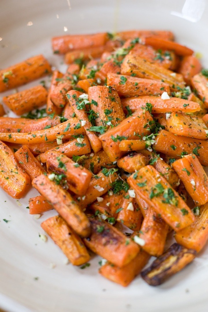 Roasted Carrots with Gremolata from The Organic Kitchen