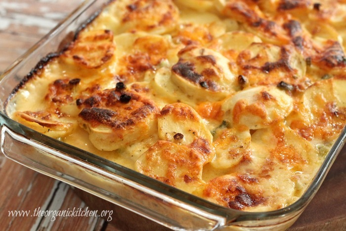 Three Cheese Au Gratin Potatoes | The Organic Kitchen Blog ...