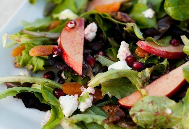 Greens with Pomegranate Vinaigrette