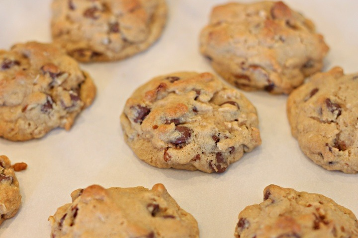 Chocolate Chip Oatmeal Cookies with Orange Glaze