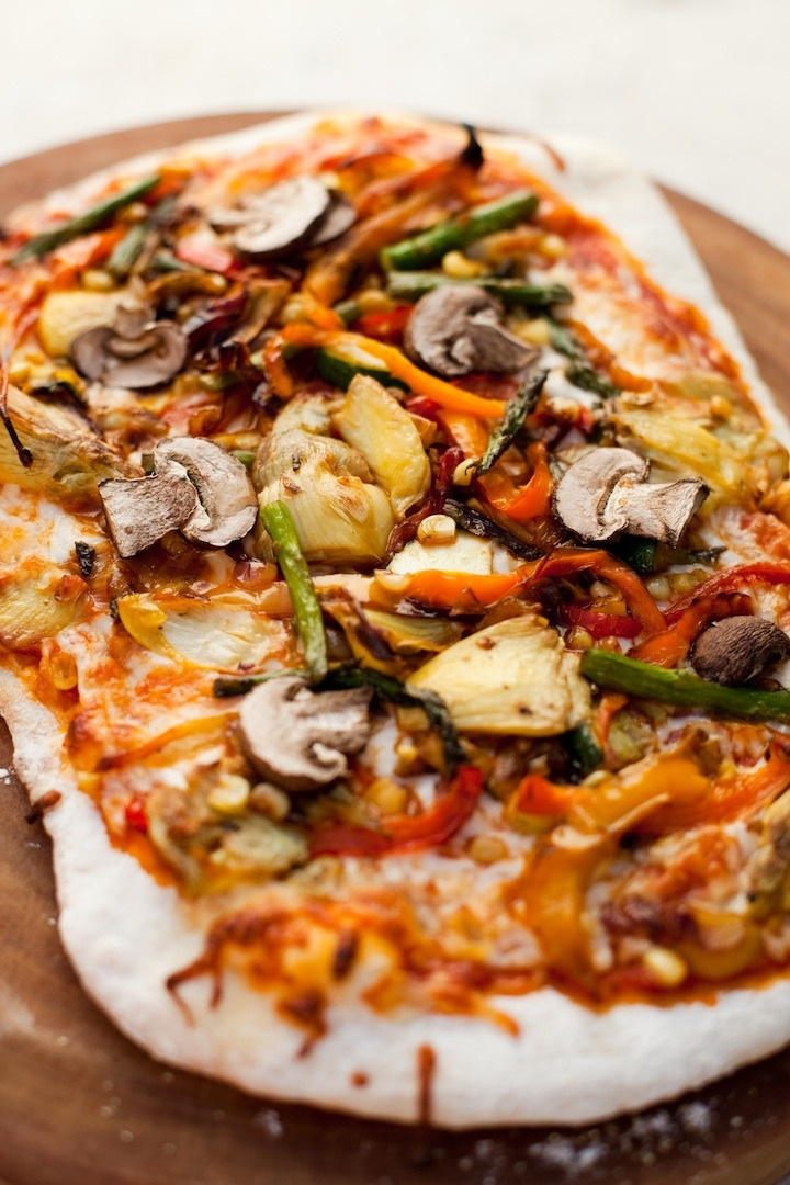 Homemade Grilled Veggie Pizza!