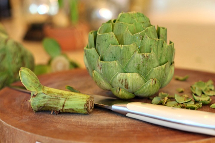 Grilled Artichokes with Garlic Aioli from The Organic Kitchen