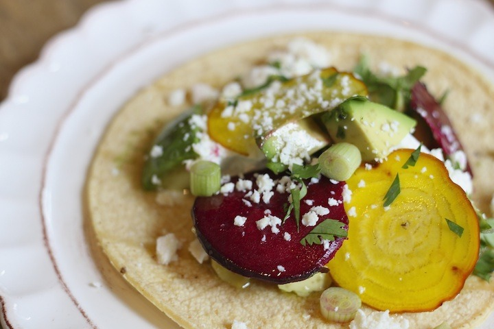 """Avocado and Goat Cheese Tacos"""