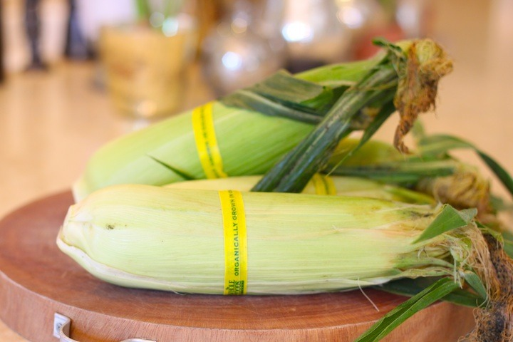 corn off the cob with asparagus