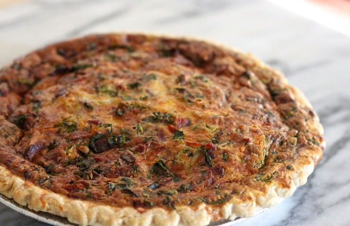 Spinach And Kale Quiche The Organic Kitchen Blog And