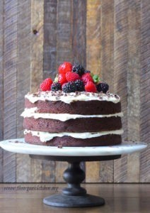 Naked Chocolate Cake With Buttercream Forsting The