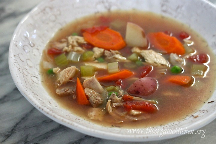 Chunky Chicken and Vegetable Soup! (grain free, gluten free, dairy free and delicious!)