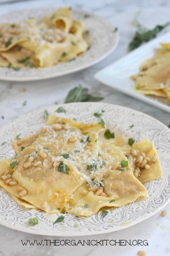 Handmade Butternut Squash Ravioli with Sage Browned Butter