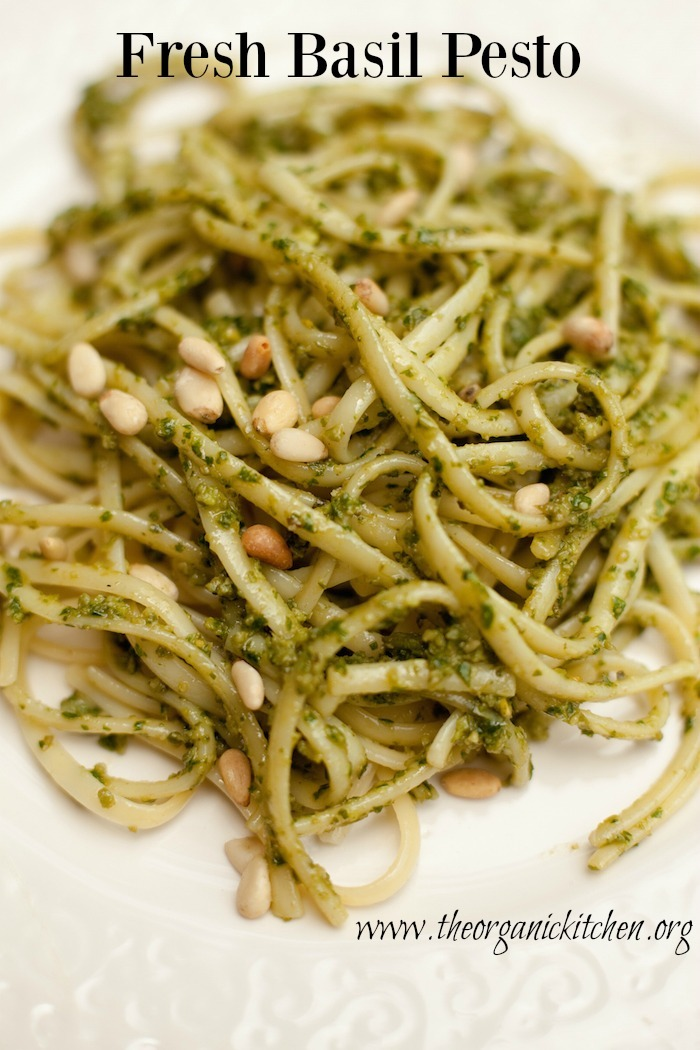 How to make fresh basil pesto | The Organic Kitchen Blog ...