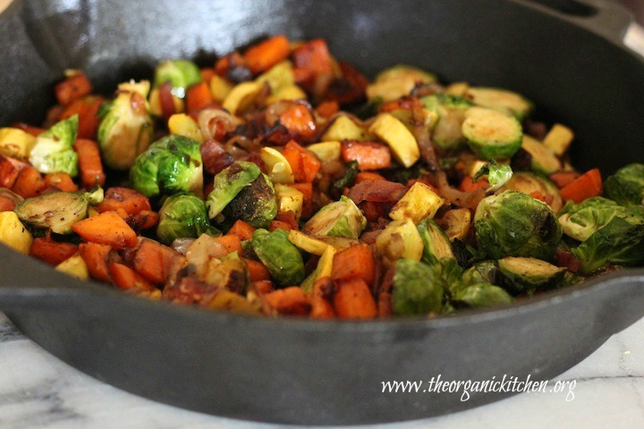 Brussels Sprout and Sweet Potato Hash!