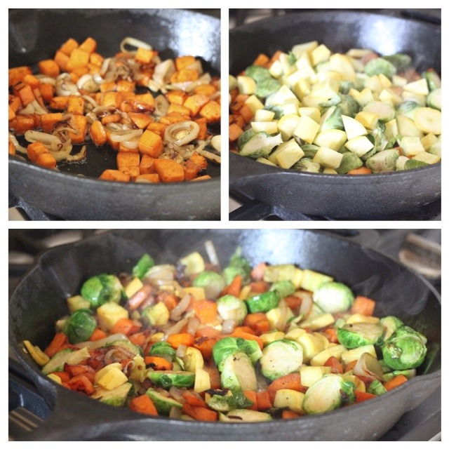 Brussels Sprout and Sweet Potato Hash from The Organic Kitchen