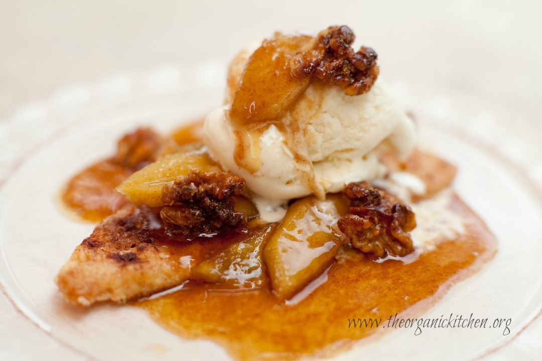 15 Minute Apple Pie a la Mode from The Organic Kitchen