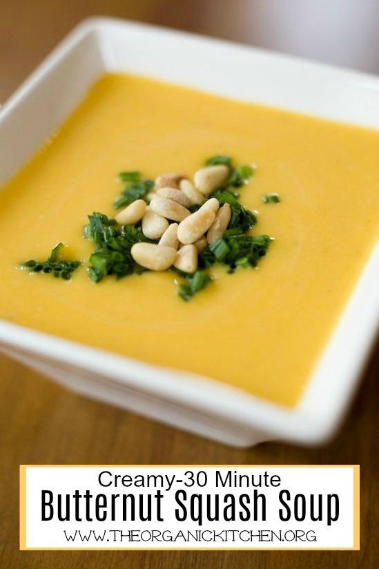 Creamy Butternut Squash Soup with a Paleo/Whole 30 option