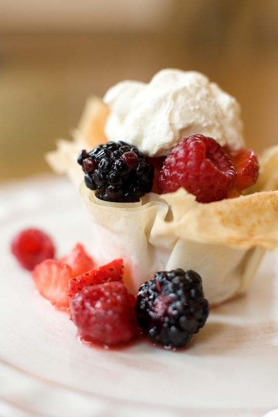 Berries in a Pastry Basket from The Organic Kitchen