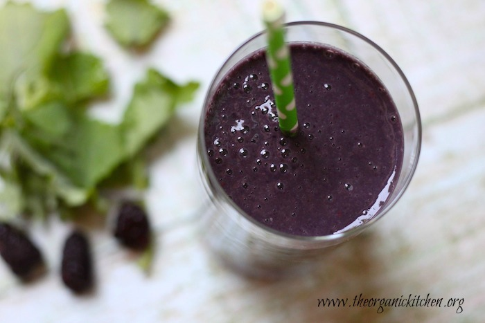 Blackberry and Baby Kale Smoothie from The Organic Kitchen