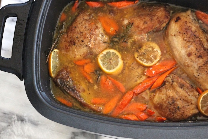 Slow Cooker Lemon Chicken with Rosemary 4