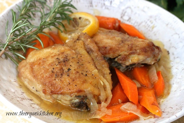 Slow Cooker Lemon Chicken with Rosemary