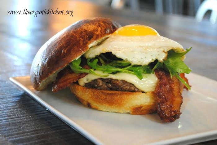 the best burger from The Organic Kitchen