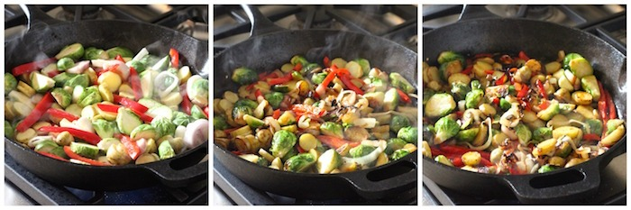 Brussels Sprouts and Sweet Potato Hash : Simple or Dressed Up For The Holidays!