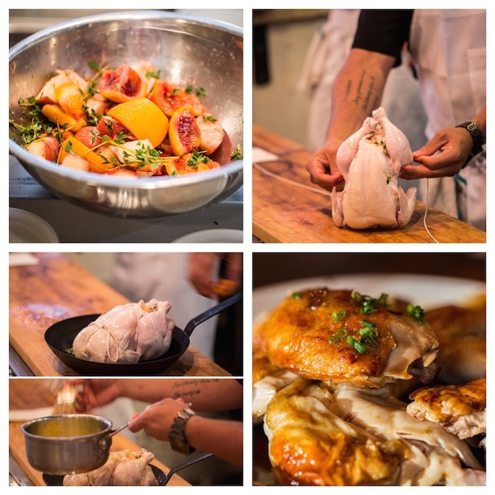 Whole Roasted Chicken with Apples, Oranges and Fresh Thyme ~ My Favorite Restaurants Series: Part 4