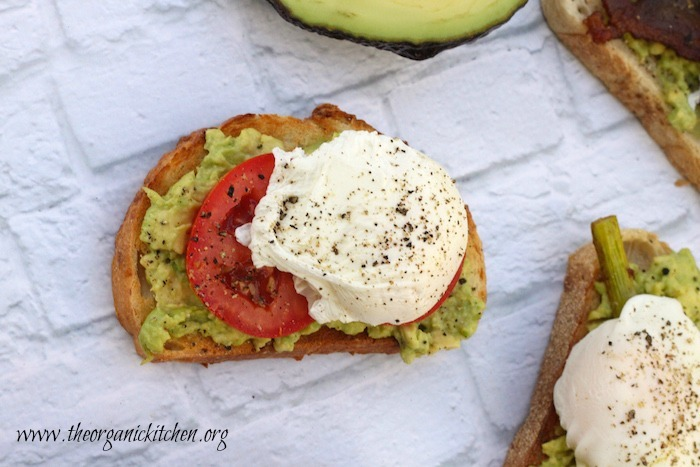 Avocado Toast with Perfectly Poached Eggs | The Organic ...