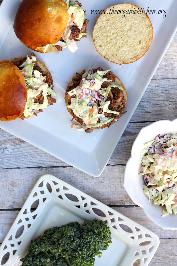 Pulled Pork Sammys and Slaw!