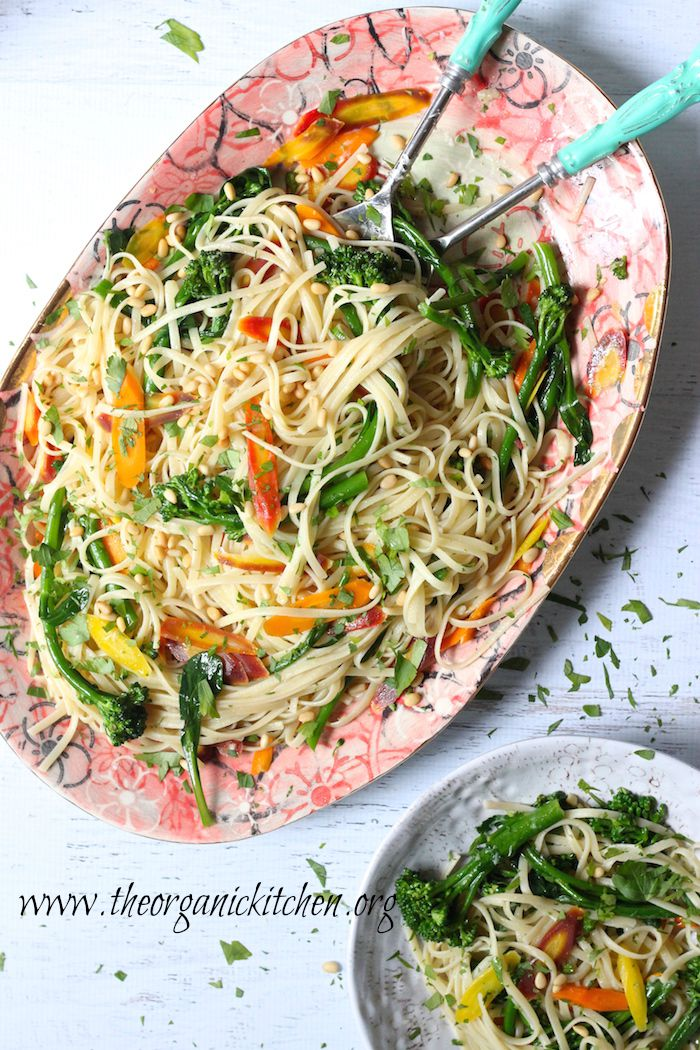 Linguini with Rainbow Carrots and Broccolini: Another 20 Minute Meal!