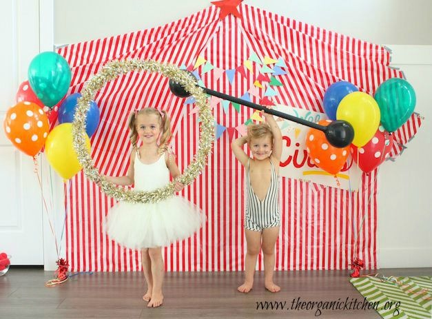 Recipes for a Junk Food Free Birthday Party with DIY Circus Theme  sc 1 st  The Organic Kitchen & Recipes for a Junk Food Free Birthday ~ Circus Party | The Organic ...