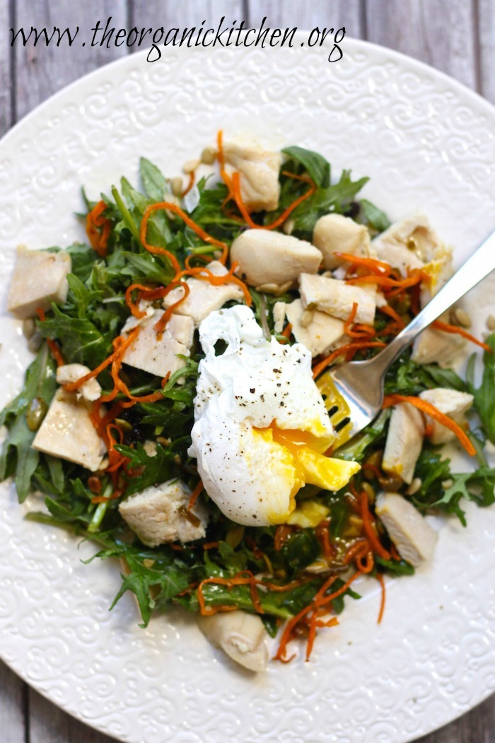 Baby Kale Chicken Salad with Crispy Sweet Potatoes | The ...