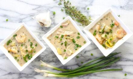 Shrimp (or Chicken) and Artichoke Soup!