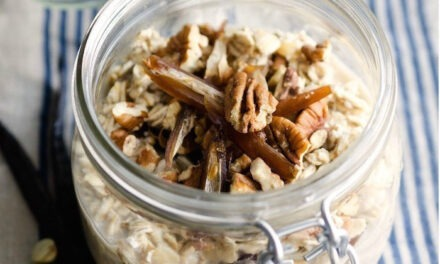 Grab and Go Maple Vanilla Overnight Oats!