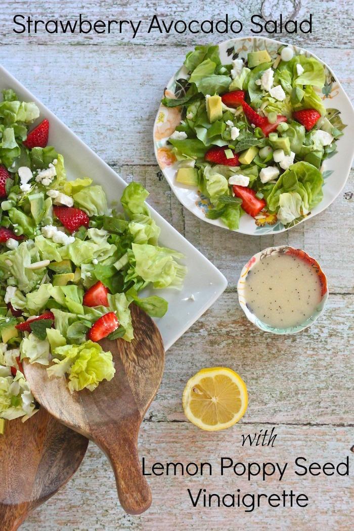 Strawberry Avocado Salad with Lemon Poppyseed Vinaigrette ...