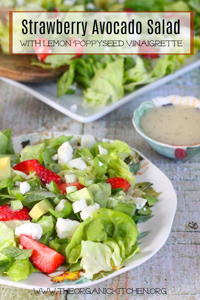 Strawberry Avocado Salad - The Organic Kitchen
