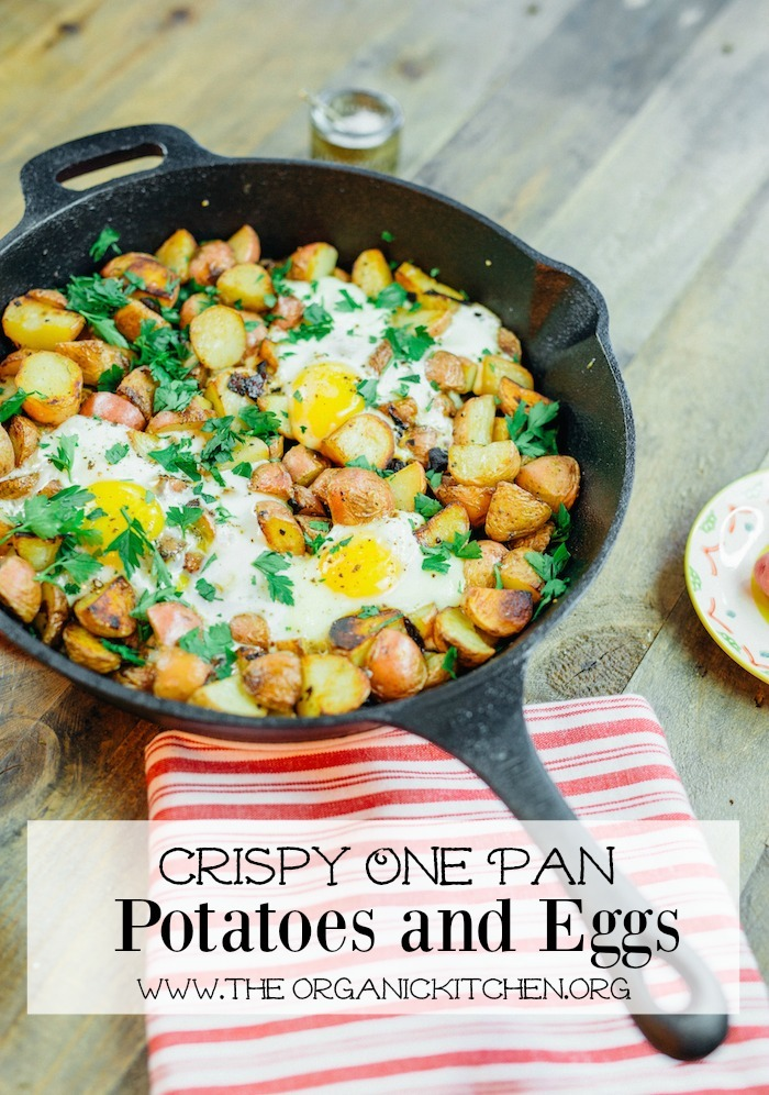 Crispy One Pan Potatoes with Eggs