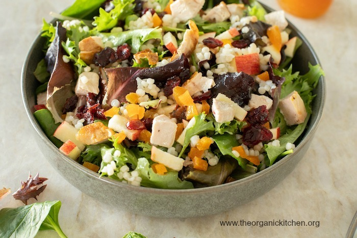 The Harvest Salad: Greens, Couscous, Fall Fruit and Apple Vinaigrette