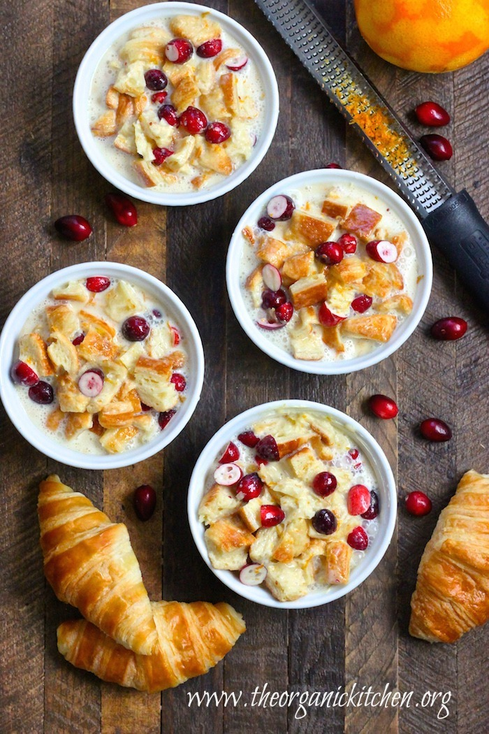 Orange Cranberry Bread Pudding: Made with Croissants!
