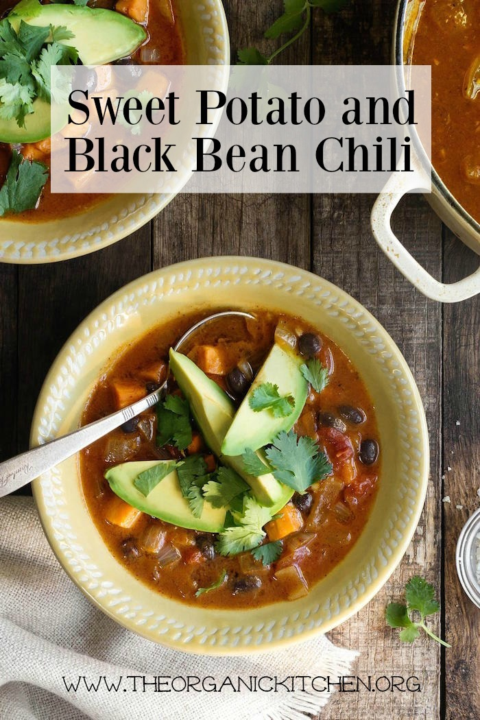 Sweet Potato and Black Bean Chili!