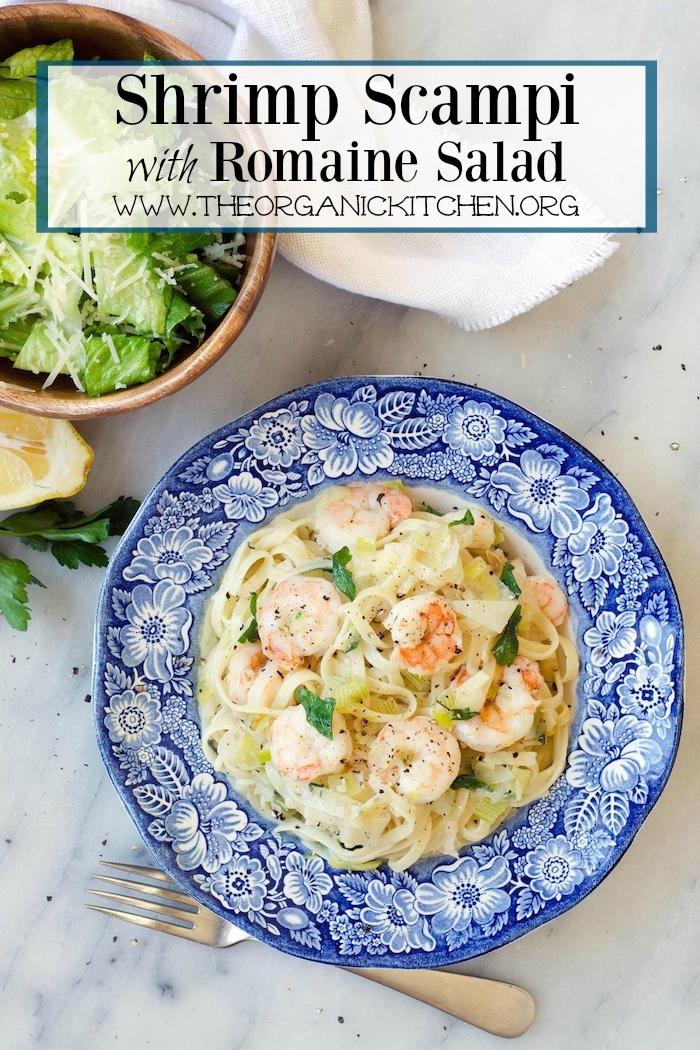 Shrimp Scampi with Romaine Salad