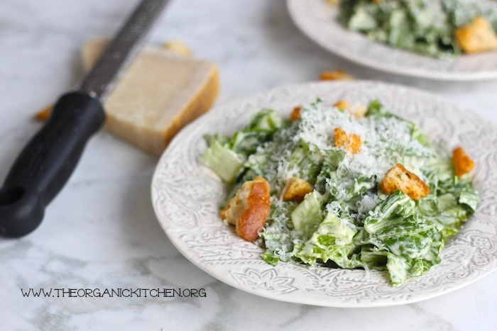 Traditional Caesar Salad with a Gluten Free Option