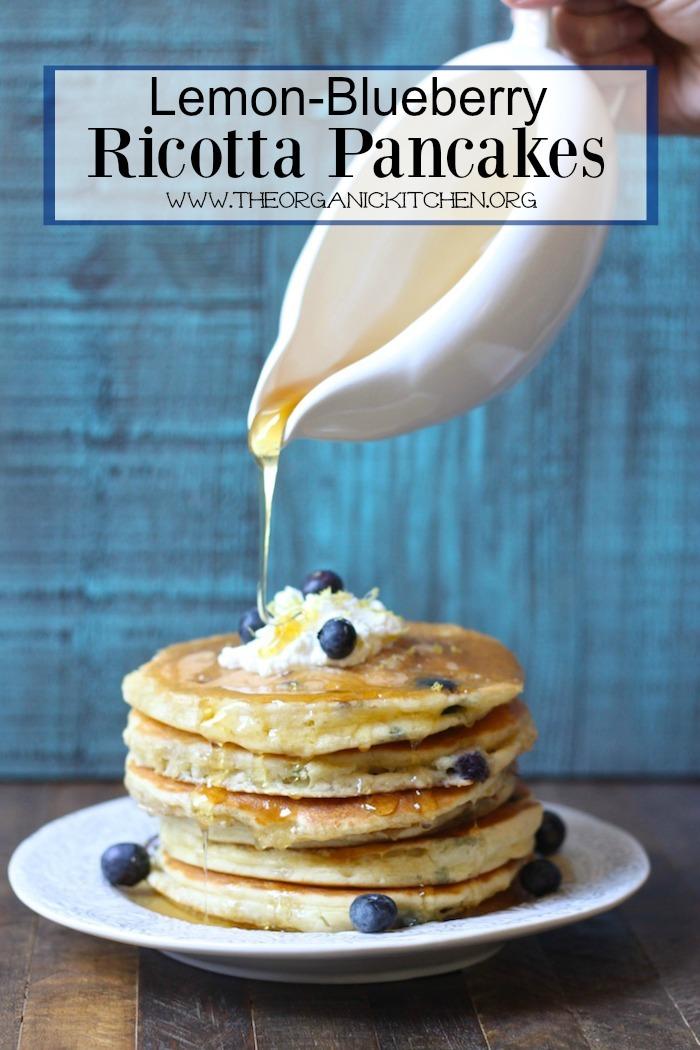 Lemon Blueberry Ricotta Pancakes: Made with Einkorn Flour