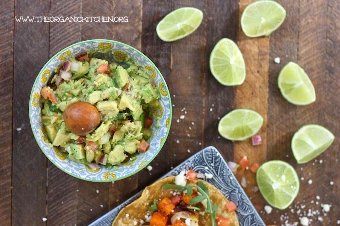 Butternut SquashTostadas with Chunky Guacamole