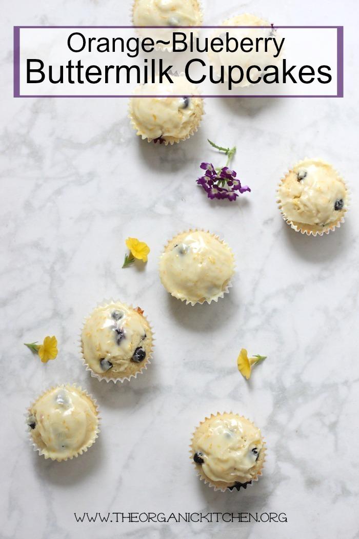 Orange Blueberry Buttermilk Cupcakes