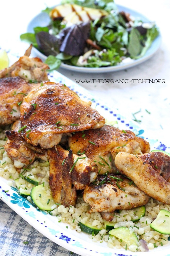 Moroccan Chicken and Cauliflower Rice Platter! Paleo/Whole 30