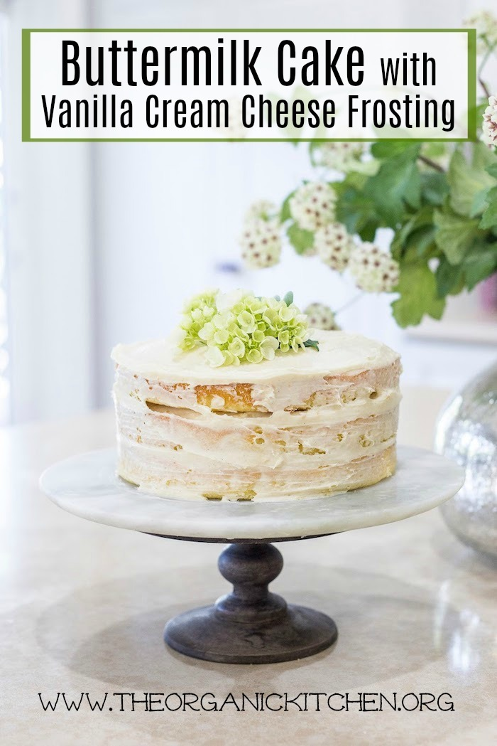 Buttermilk Cake with Vanilla Bean Cream Cheese Frosting