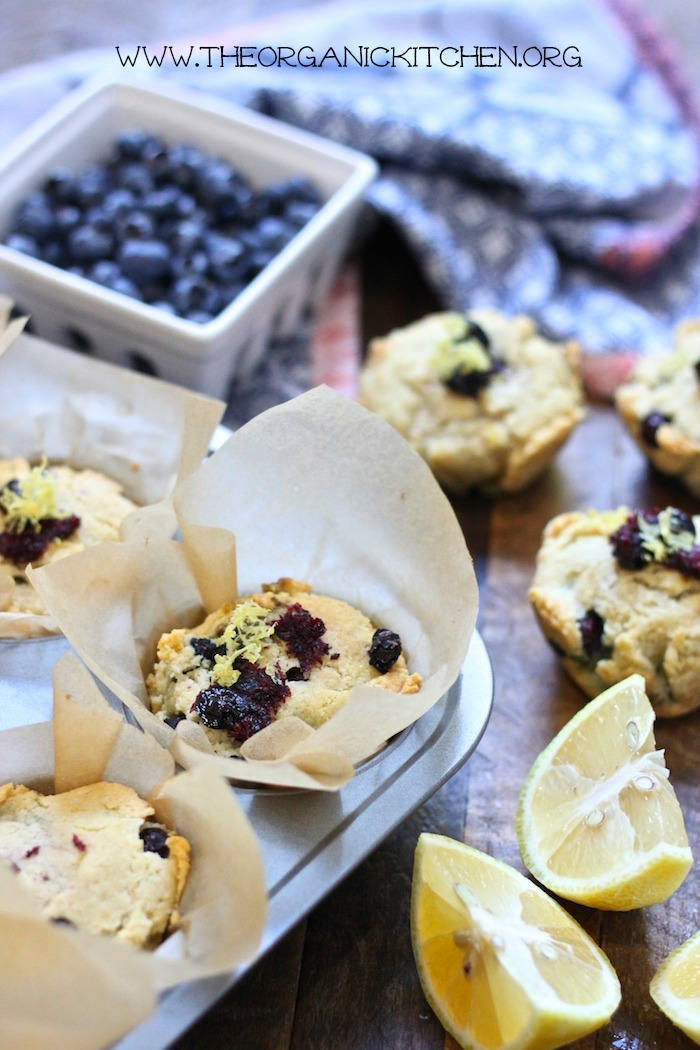 Keto Lemon Blueberry Muffins-Paleo, low carb