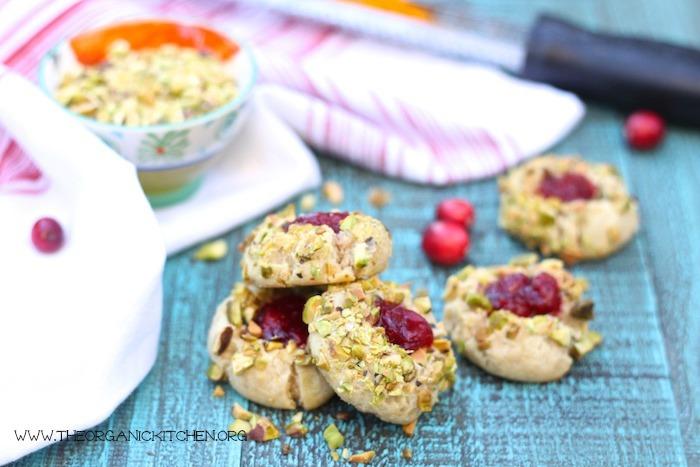 Orange Cranberry Holiday Thumbprint Cookies