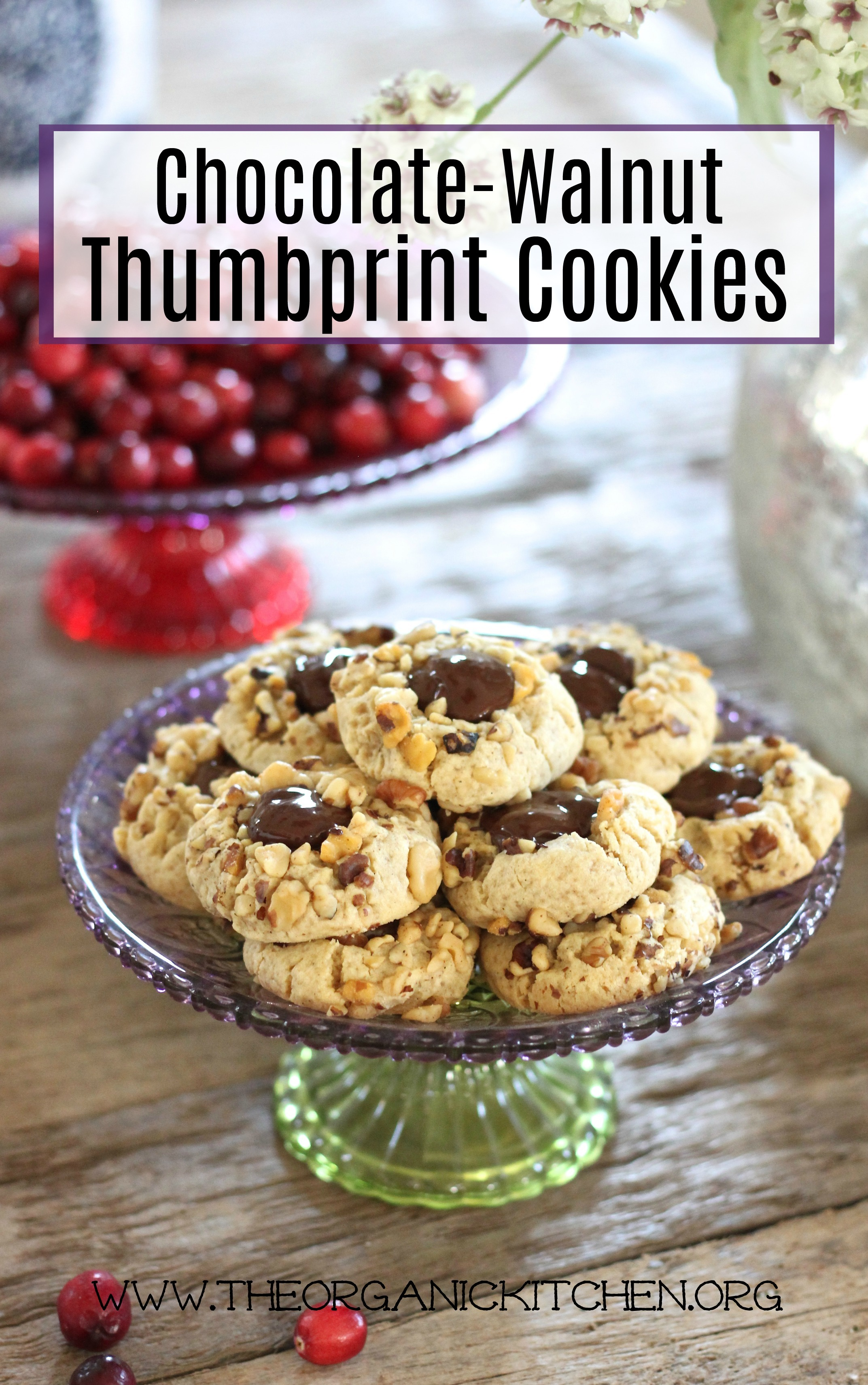 Chocolate Walnut Thumbprint Cookies - with Gluten free and grain free versions