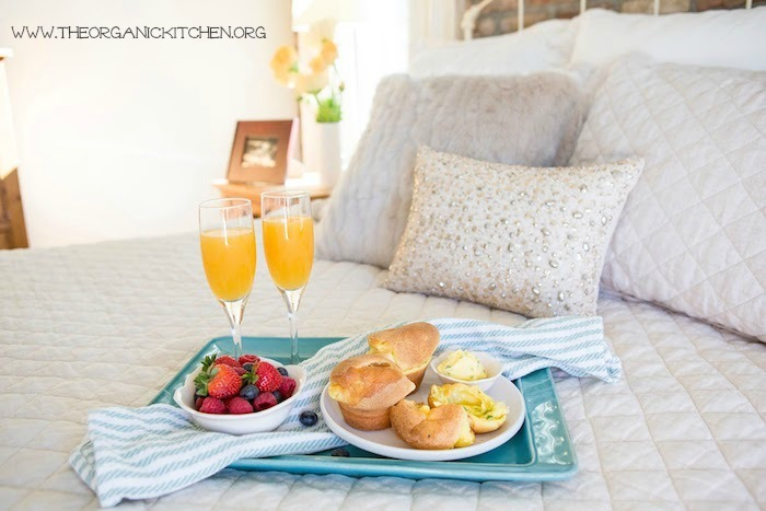 Breakfast in Bed Series: Cheesy Popovers with Chive Butter!