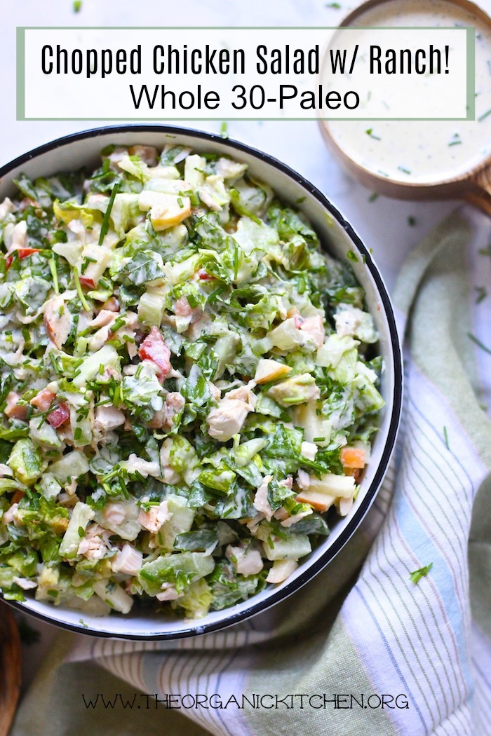 Chopped Chicken Salad with Ranch ~ #Whole 30 #Paleo #keto #chickensalad #ranchdressing